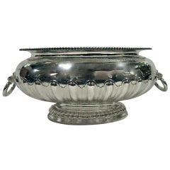 Large Oval Sterling Silver Centerpiece Bowl