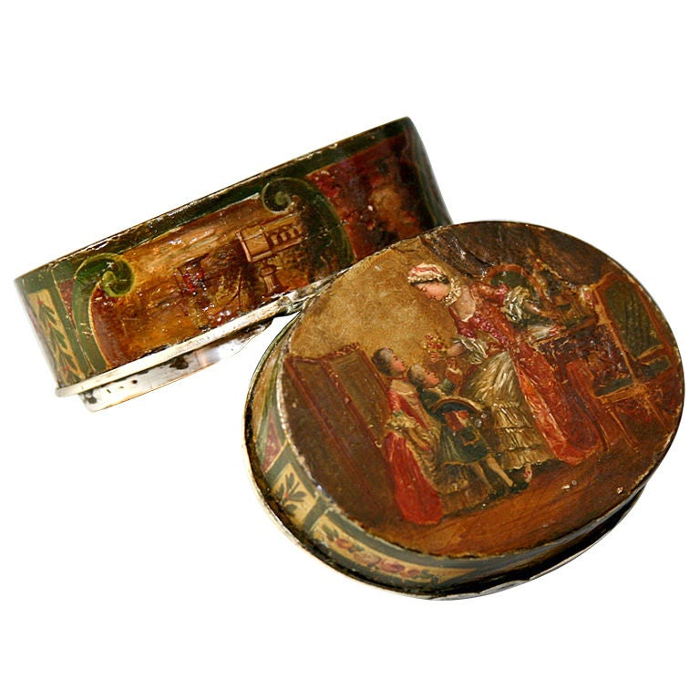 Antique Vernis Martin 1700s Table Snuff Etui Marie Antoinette At 1stdibs