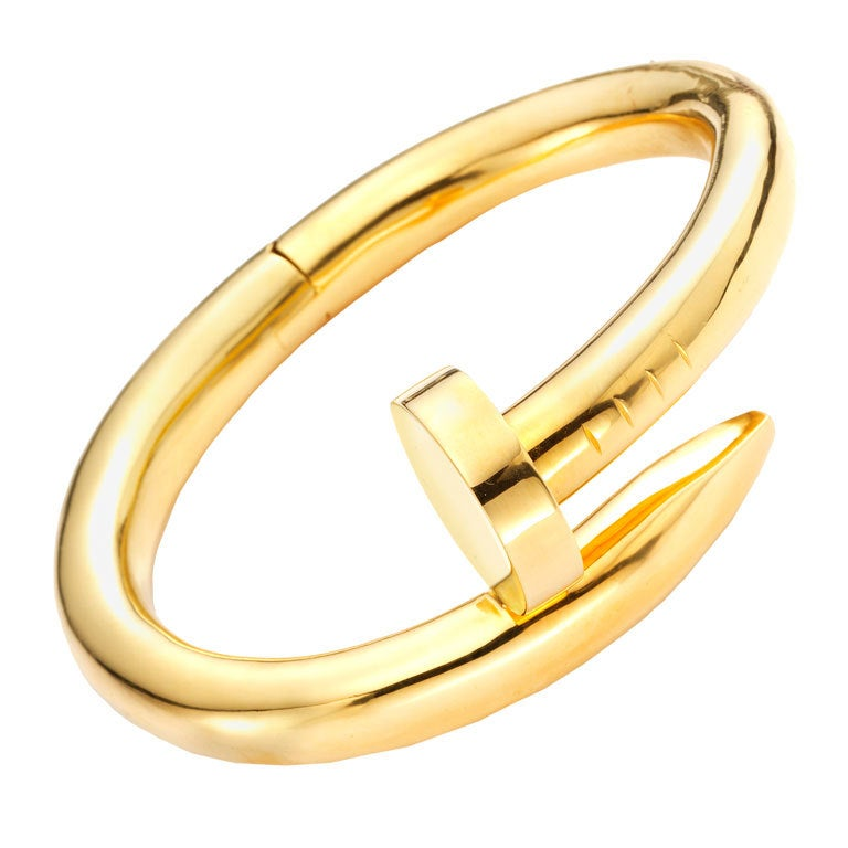 cartier aldo cipullo a gold nail bracelet at 1stdibs
