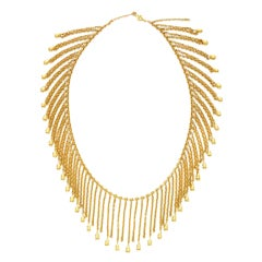 VAN CLEEF & ARPELS A Gold 'Fringe' Necklace