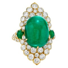 VAN CLEEF & ARPELS An Emerald and Diamond Ring