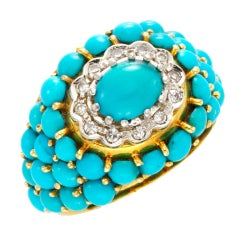 J.E. CALDWELL & CO. A Turquoise and Diamond Ring