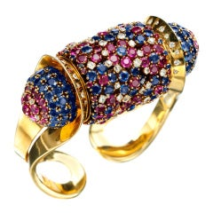 JOHN RUBEL A Retro 'Rouleau' Bangle Bracelet