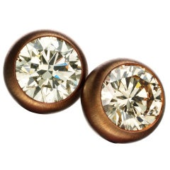 HEMMERLE A Pair of Colored Diamond Stud Earrings
