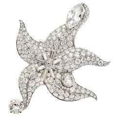 PAUL FLATO A Diamond and Platinum 'Starfish' Brooch