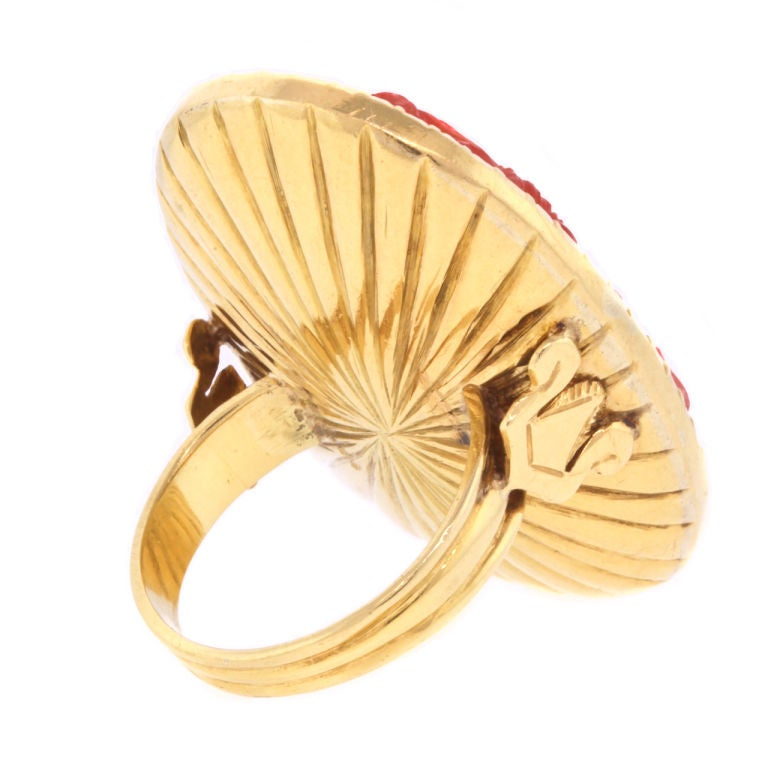 gold ring with antique carved at 1stdibs