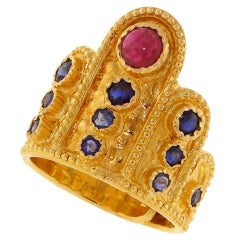 LALAOUNIS Ruby and Sapphire Ring