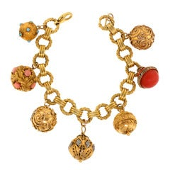 Victorian Orb Charms on Tiffany & Co. Bracelet