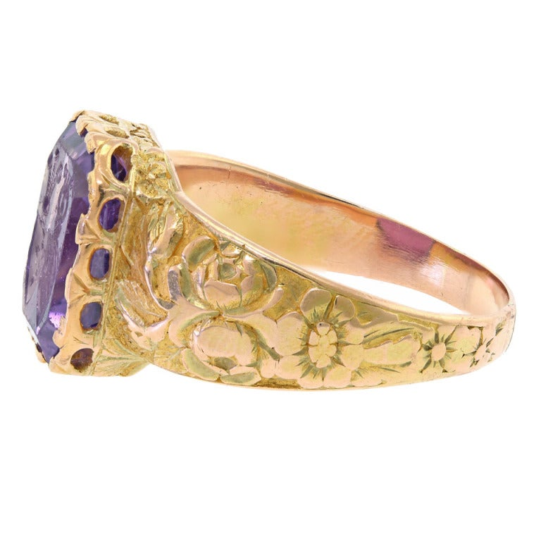 antique amethyst intaglio signet ring at 1stdibs