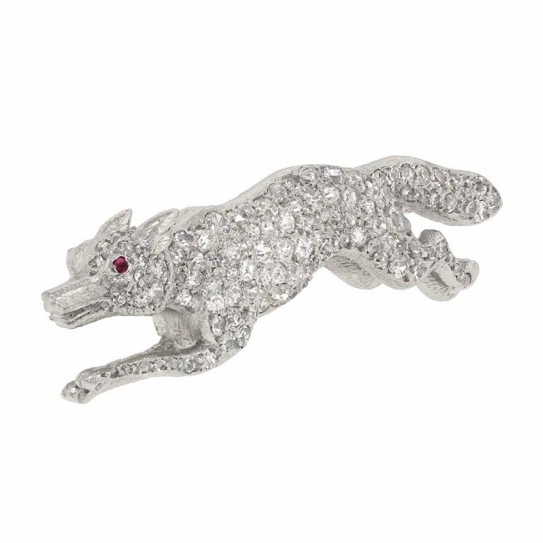 Diamond Pave Fox Brooch image 3