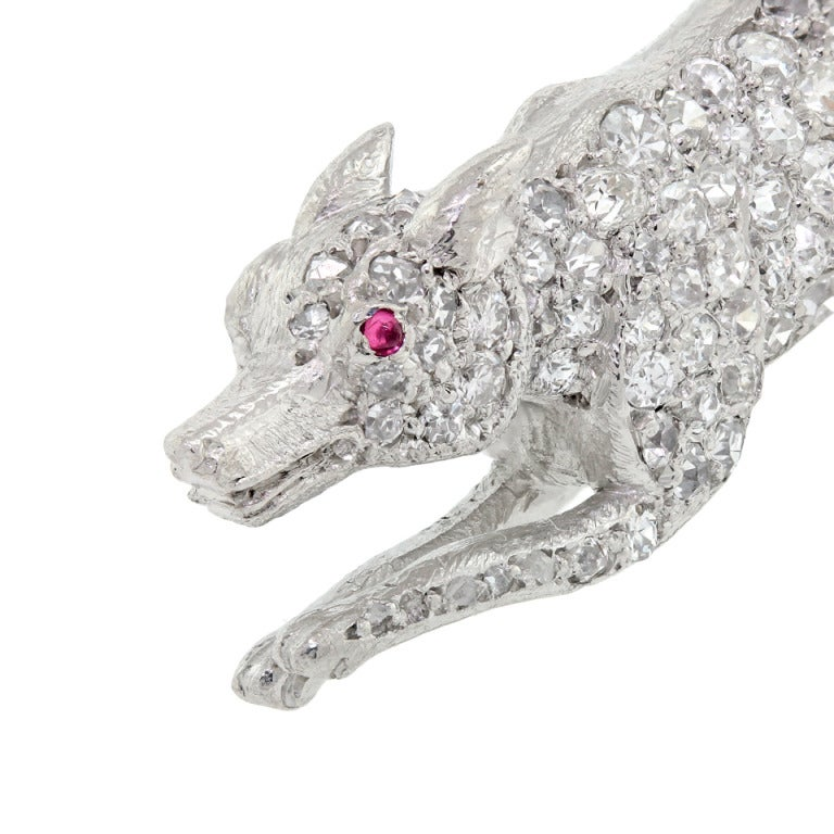Diamond Pave Fox Brooch image 7