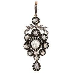 Georgian Diamond Pendant