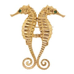 MARCUS & CO. Double Clip Seahorse Brooch