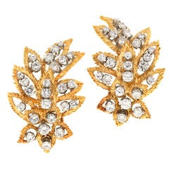 SPRITZER & FUHRMANN Diamond and Gold Earrings