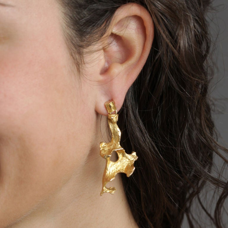 BJORN WECKSTROM Gold Earrings image 4