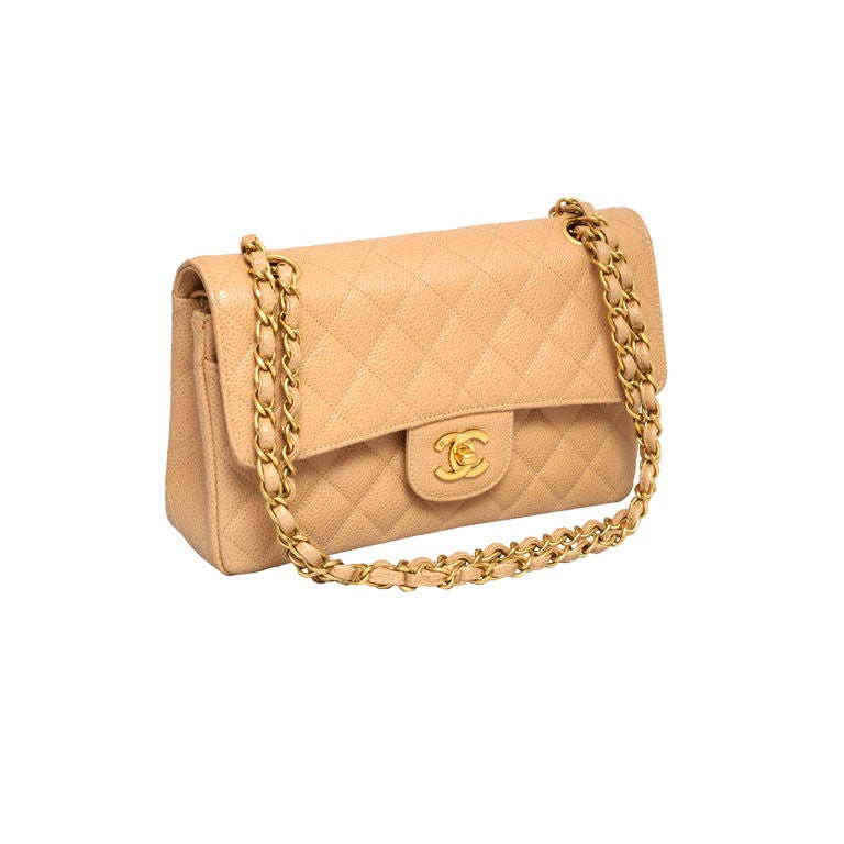 CHANEL CAVIAR SKIN 2.55 DOUBLE FLAP BAG 1