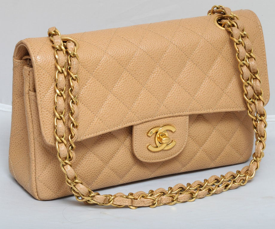 CHANEL CAVIAR SKIN 2.55 DOUBLE FLAP BAG 3