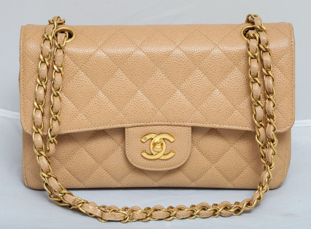CHANEL CAVIAR SKIN 2.55 DOUBLE FLAP BAG 4