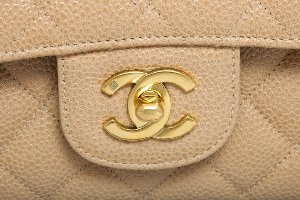 CHANEL CAVIAR SKIN 2.55 DOUBLE FLAP BAG 5