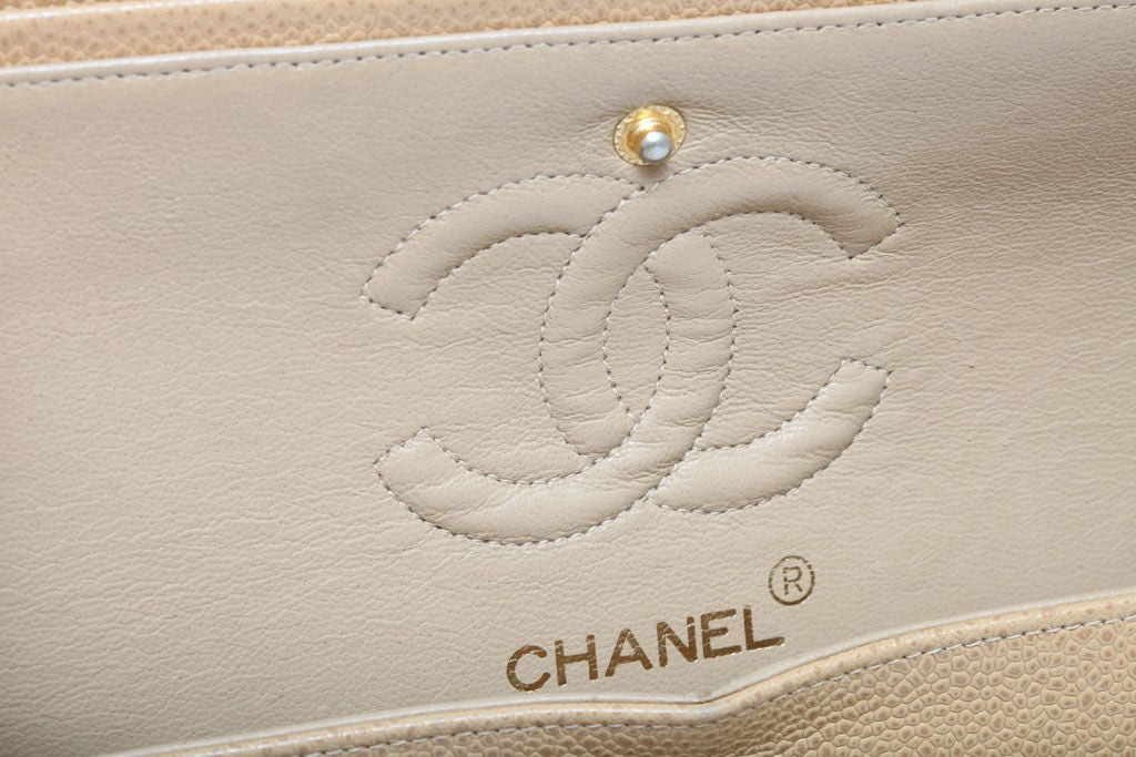 CHANEL CAVIAR SKIN 2.55 DOUBLE FLAP BAG 9