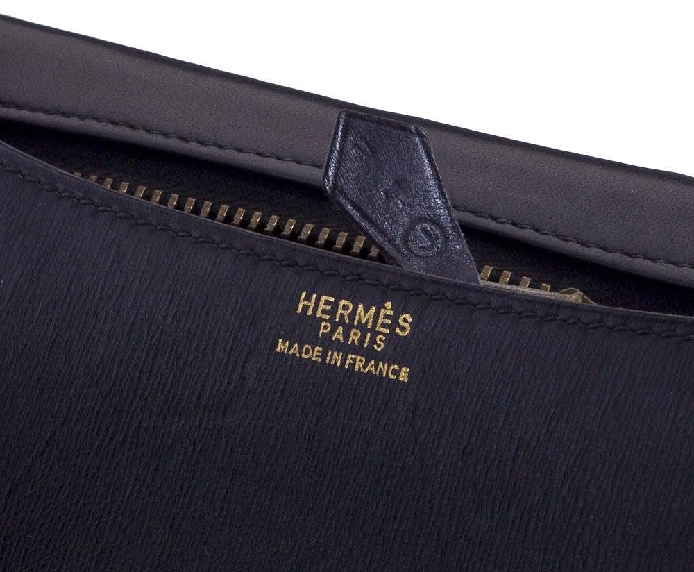 VINTAGE HERMES BLACK CONSTANCE BAG 23CM 3