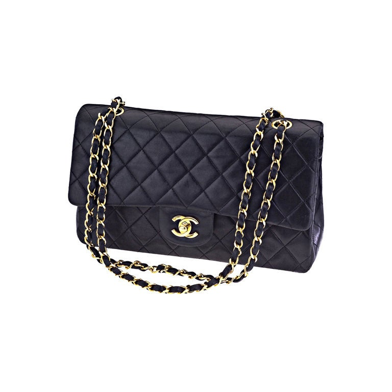 CHANEL CLASSIC QUILTED DOUBLE FLAP 2.55 BAG