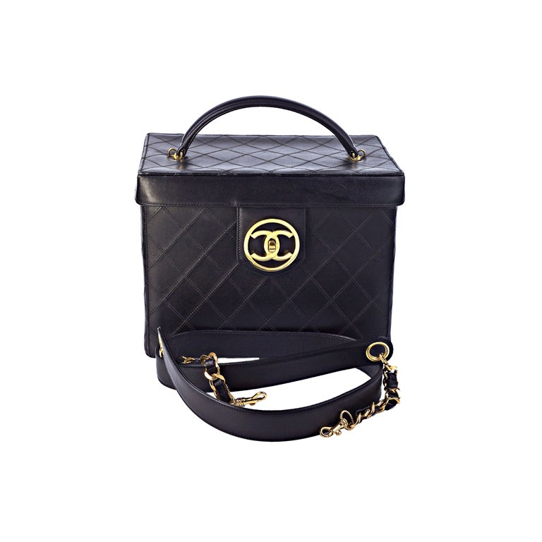 Chanel Quilted Vanity Case Bag 1
