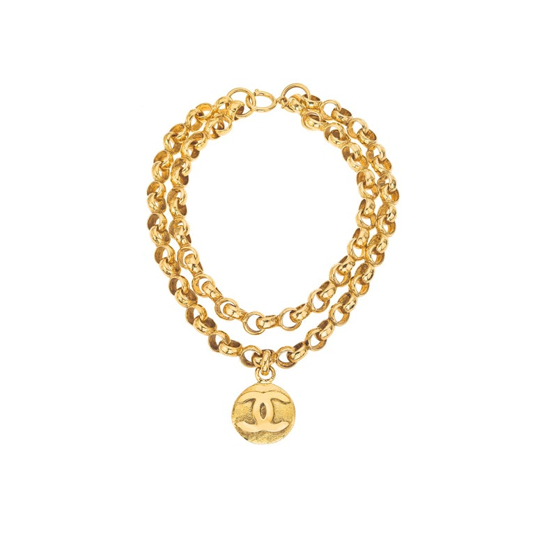 CHANEL DOUBLE CHAIN CC NECKLACE 1