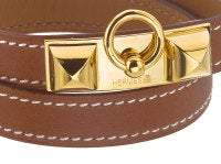 HERMES MEDOR BANGLE BROWN/GOLD thumbnail 3