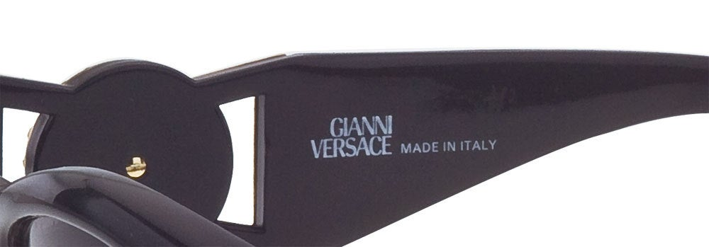 0ca283c148 Black Vintage Versace Sunglasses MOD 424 with Rhinestones For Sale