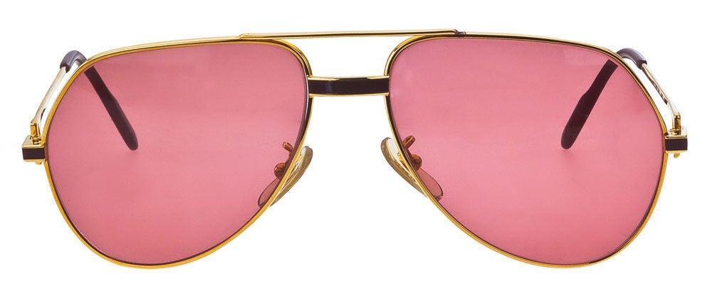 Vintage Cartier RED Laque De Chine Sunglasses 2