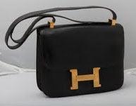 VINTAGE HERMES BLACK CONSTANCE BAG 23CM 4