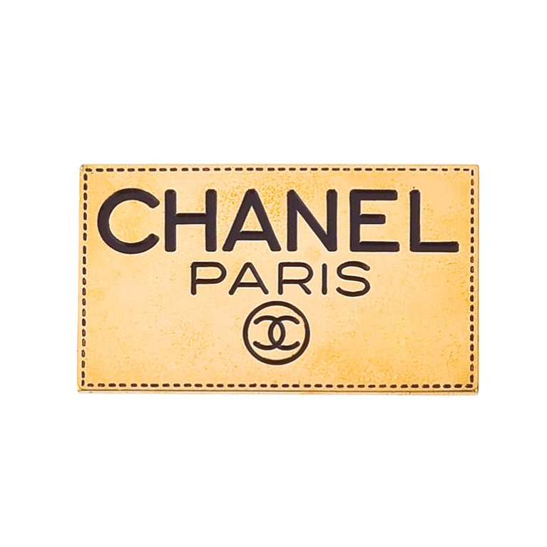 Vintage Chanel Paris Logo Brooch 1
