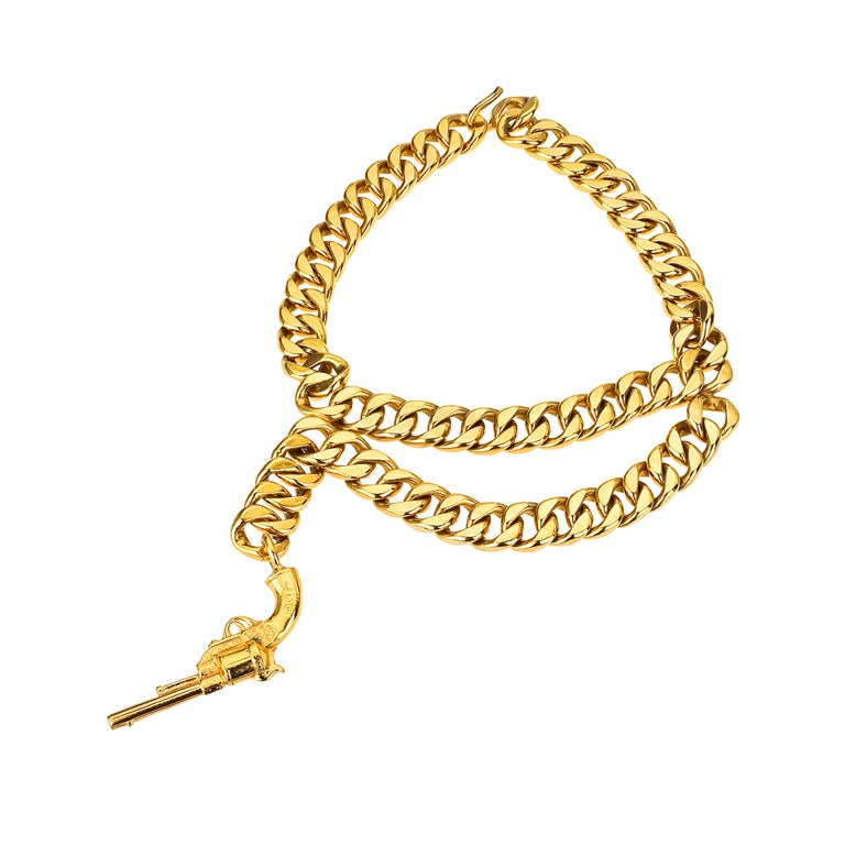 Very Rare Vintage Chanel Gun Motif Necklace 1