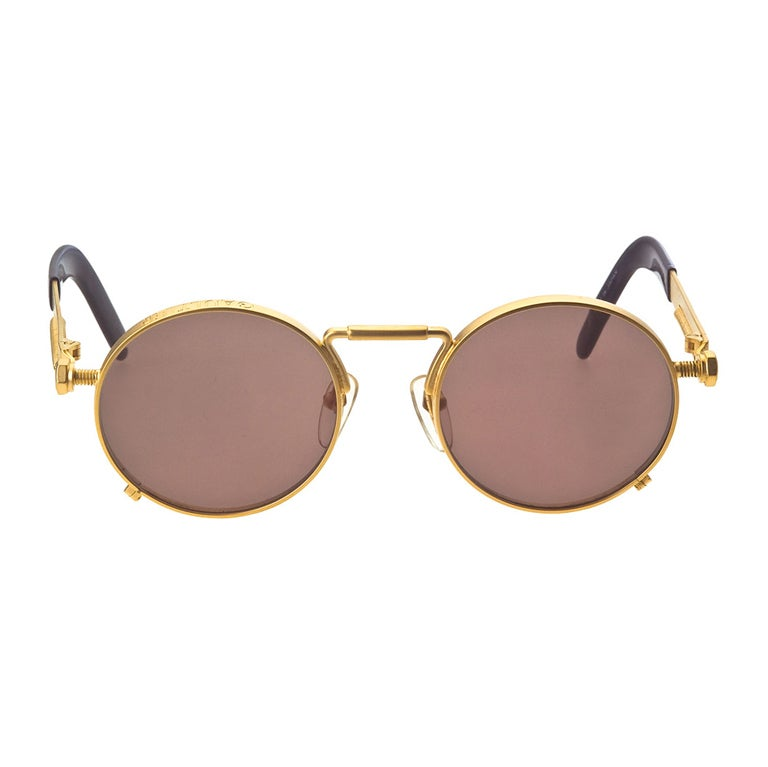 Jean Paul Gaultier 56-8171 Gold Sunglasses 1