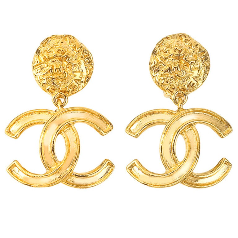 Chanel CC Dangling Earrings