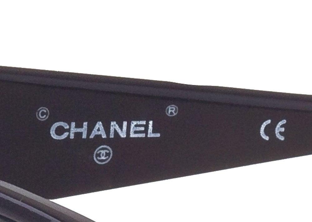 CHANEL CC LOGO BLACK/GOLD SUNGLASSES 3