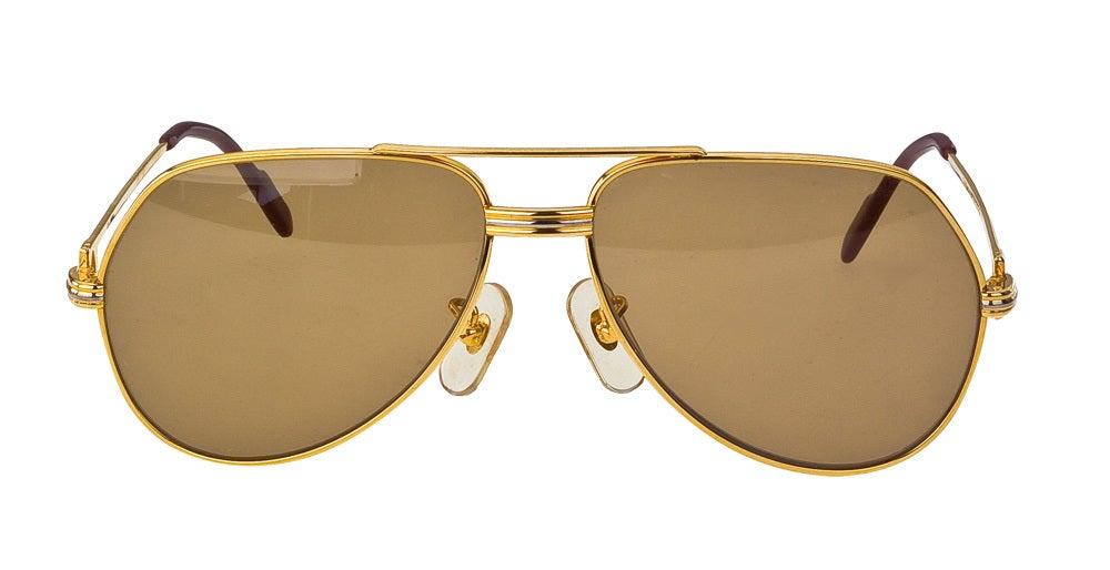 Vintage Cartier Vendome Sunglasses Large  2
