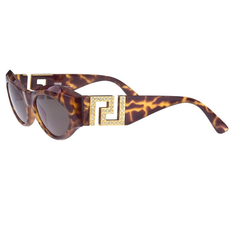 21241e28db06 Gianni Versace Sunglasses Mod T74/C Col 869 Rh For Sale. Vintage Versace  Sunglasses With Rhinestones