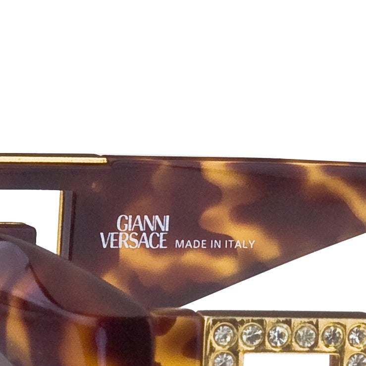 Brown Gianni Versace Sunglasses Mod T74/C Col 869 Rh For Sale