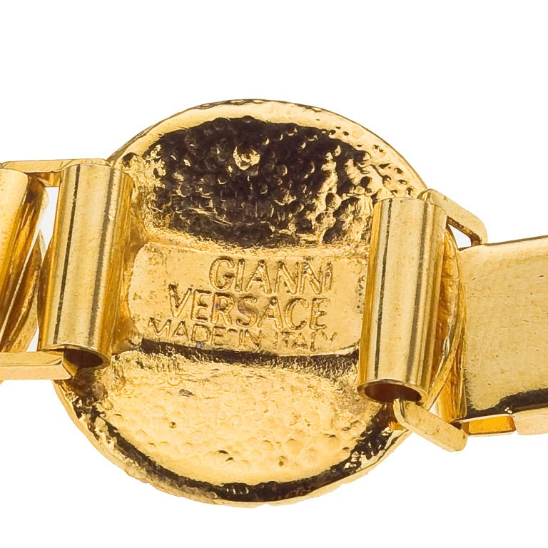 GIANNI VERSACE GOLD TONED BRACELET WITH 6 MEDUSAS 2