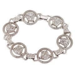 Gianni Versace Silver Bracelet With Medusa