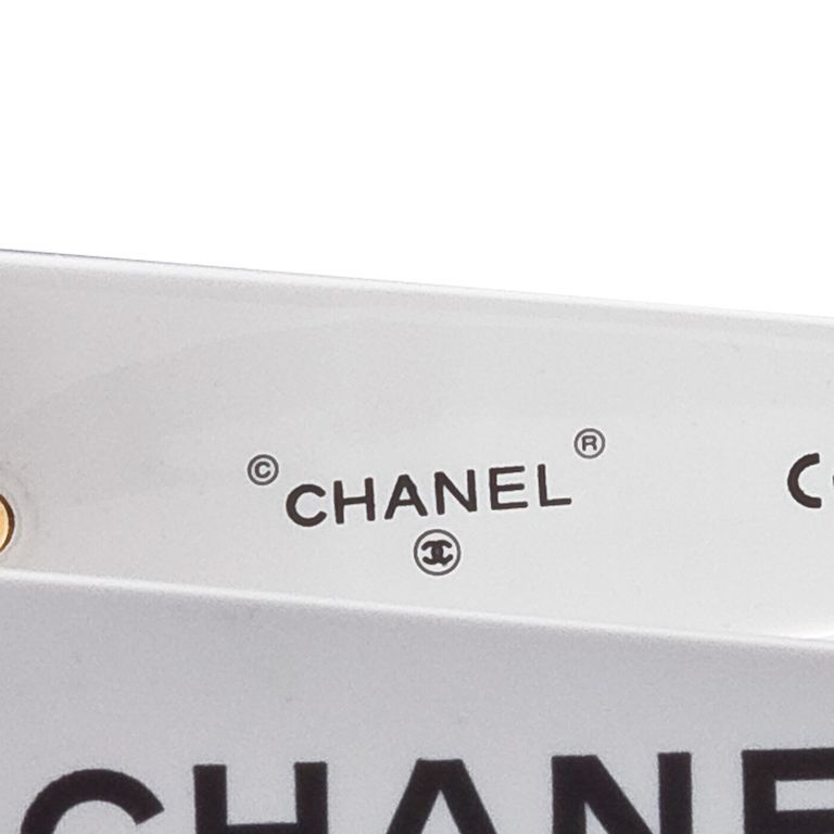 Chanel Black and White Logo Sunglasses 2