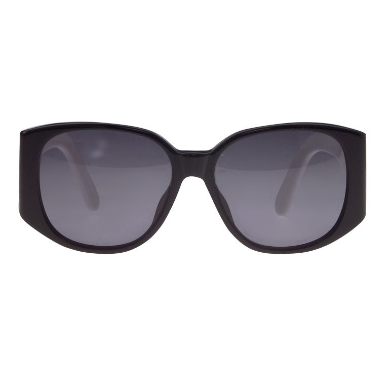Chanel Black and White Logo Sunglasses 3