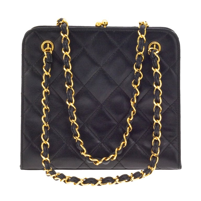 CHANEL QUILTED DEMI BAG WITH CHAIN HANDLES 2
