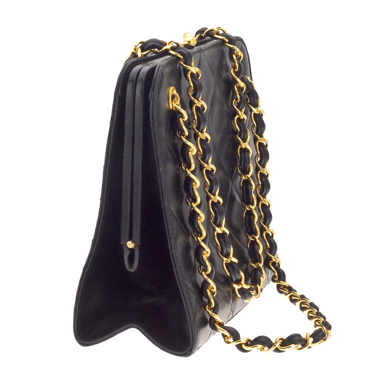 CHANEL QUILTED DEMI BAG WITH CHAIN HANDLES 3