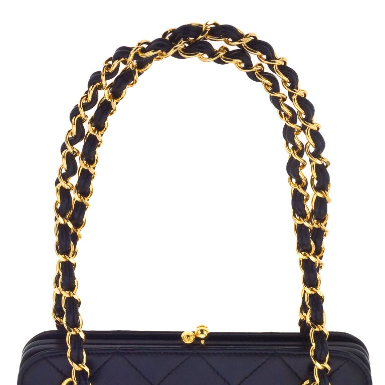 CHANEL QUILTED DEMI BAG WITH CHAIN HANDLES 5