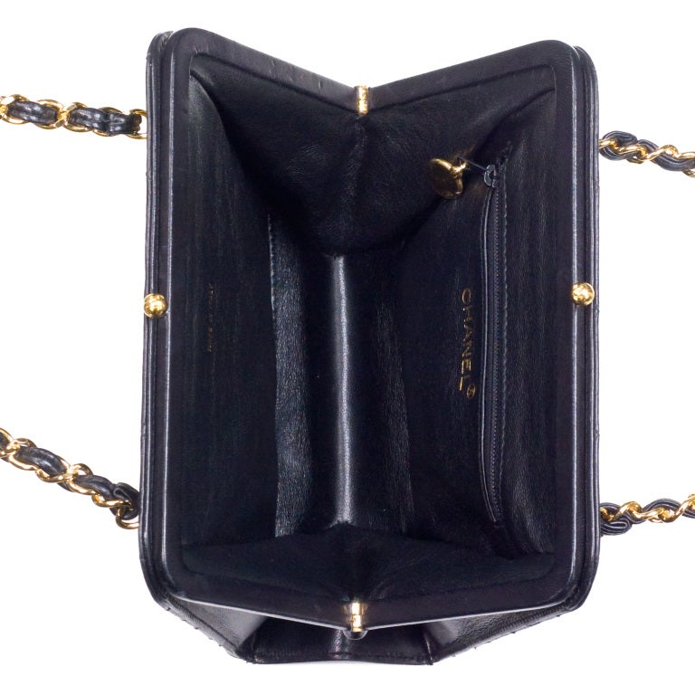 CHANEL QUILTED DEMI BAG WITH CHAIN HANDLES 6