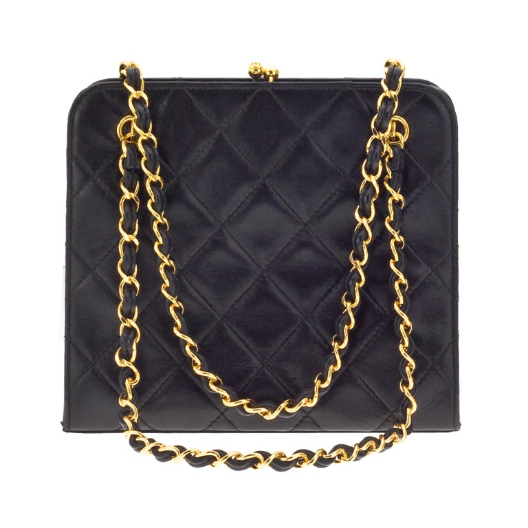 CHANEL QUILTED DEMI BAG WITH CHAIN HANDLES