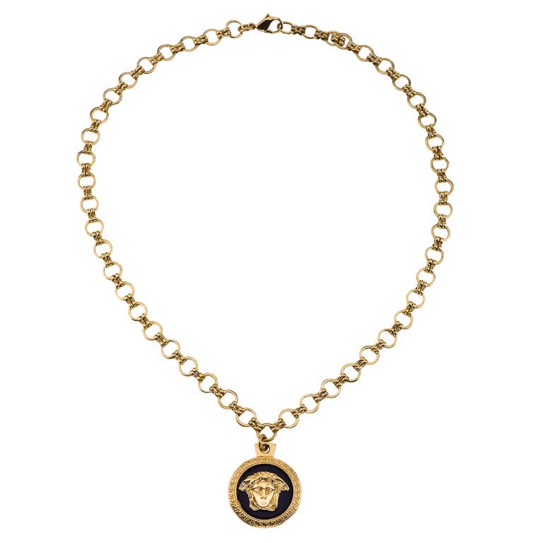 vintage gianni versace medusa pendant necklace at 1stdibs